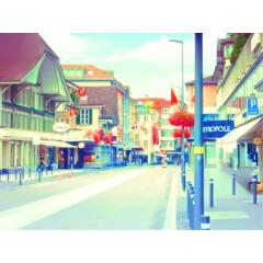 イラスト風背景素材008修正版 ヨーロッパの街 Clip Studio Assets