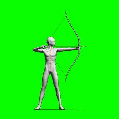 弓を引くポーズ - CLIP STUDIO ASSETS