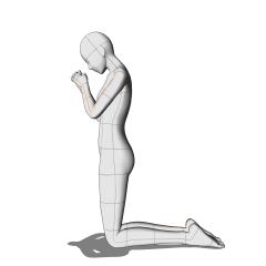 祈り:膝立ち - CLIP STUDIO ASSETS