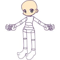 20th風 ポーズ取り人形 幼児型 Ver11 Clip Studio Assets