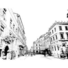 ヨーロッパの街並み Clip Studio Assets